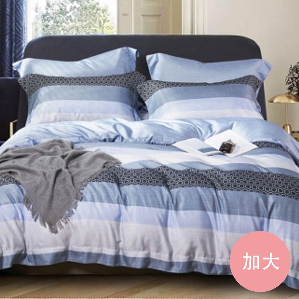 PureOne - 吸濕排汗天絲-凡人歌-加大床包枕套組(含床包*1+枕套*2)