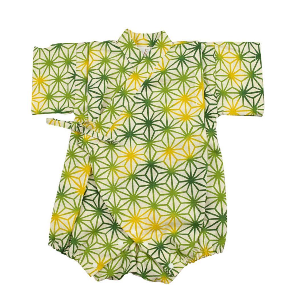 akachan honpo - 甚平包屁衣-麻葉-綠色