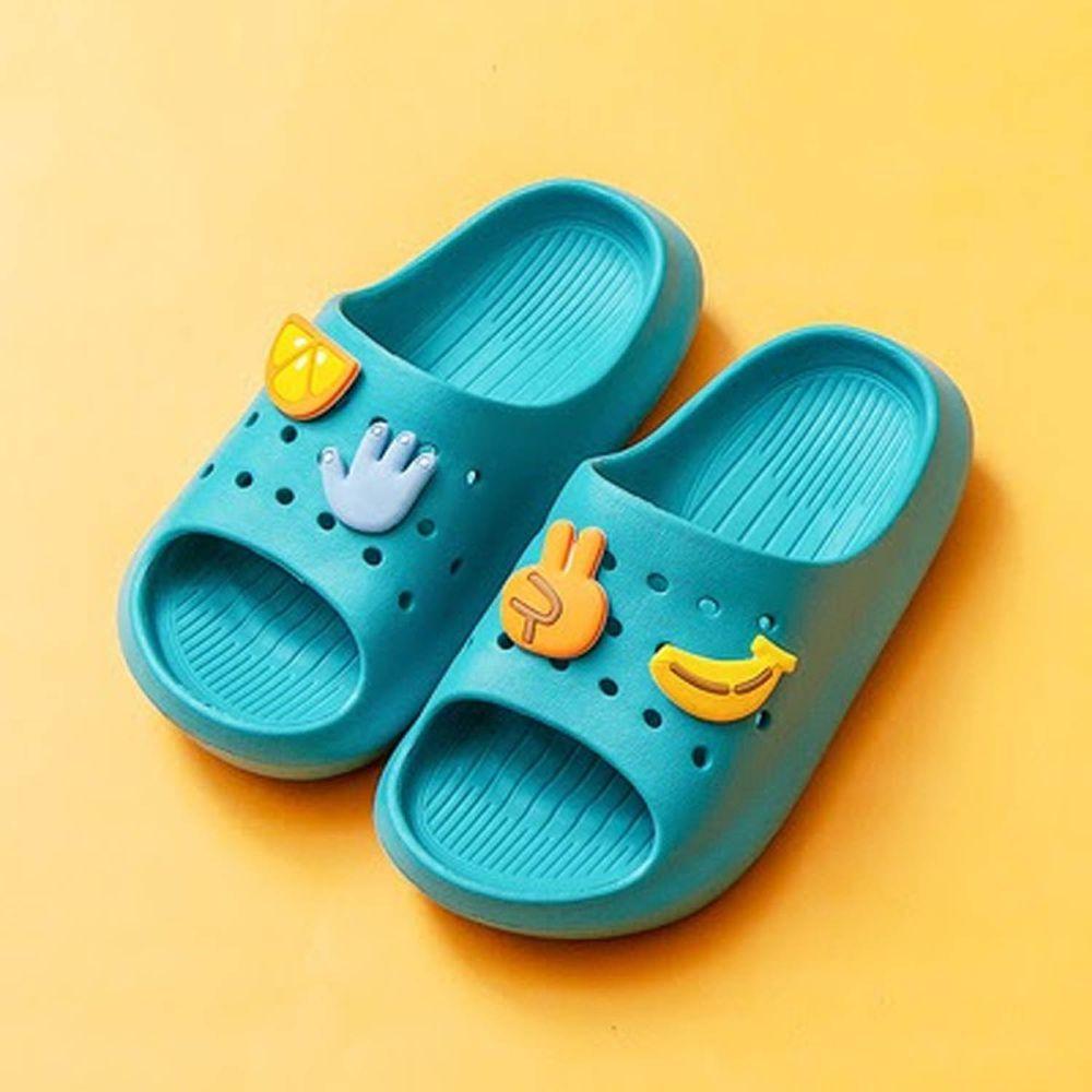 Cheerful Mario - 兒童洞洞拖鞋-石英綠