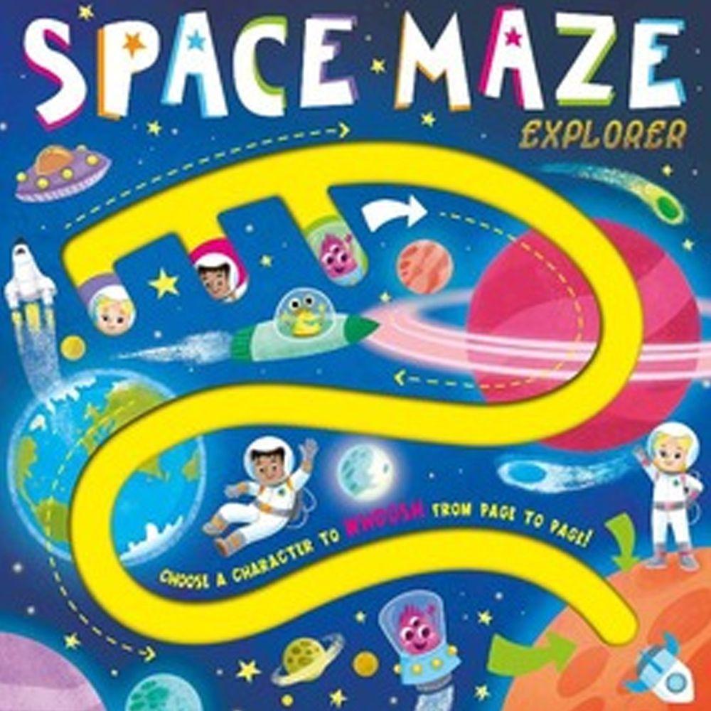 Space Maze Explorer 外太空探索(手指迷宮書)
