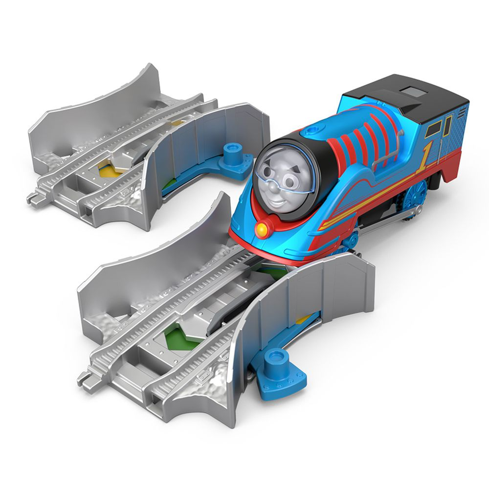 湯瑪士小火車 - 電動系列-TURBO合金車與變速軌道組-Thomas