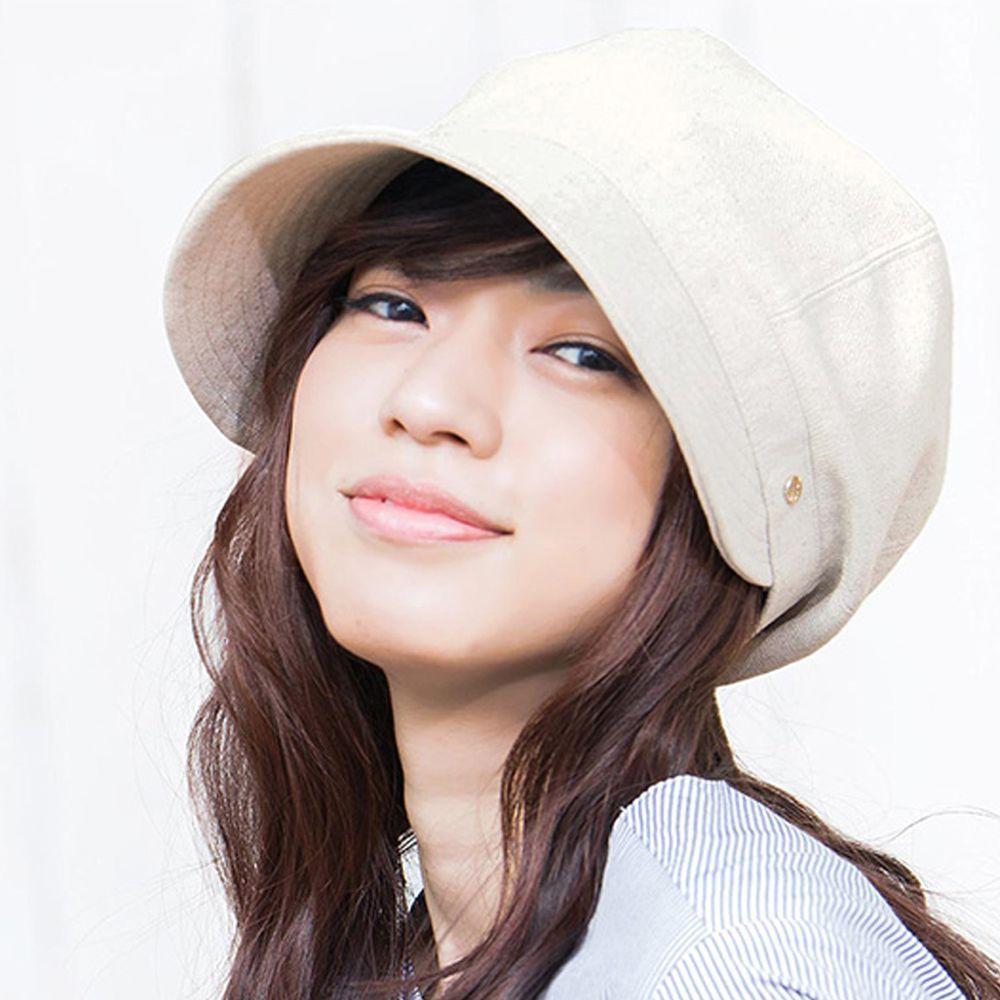日本服飾代購 - 【irodori】抗UV小顏效果遮陽帽-米杏 (L(61cm))