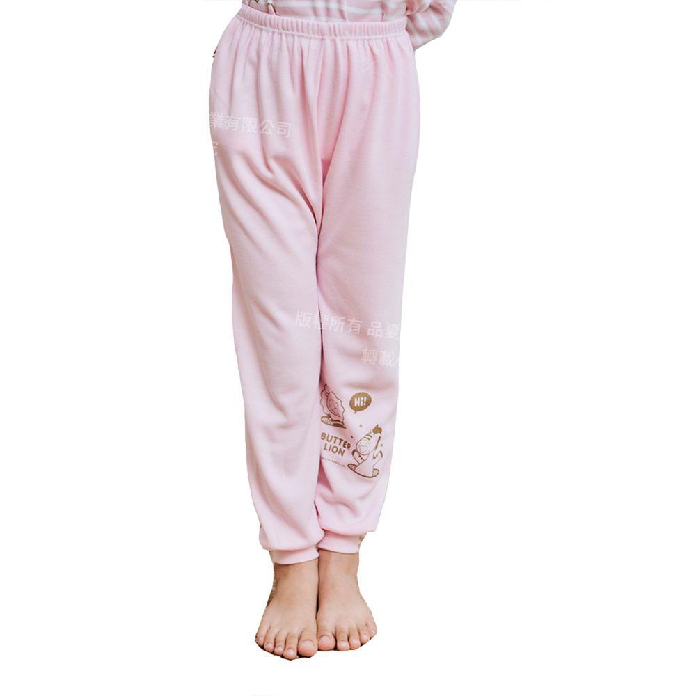 GIAT - 奶油獅保暖長褲-粉色