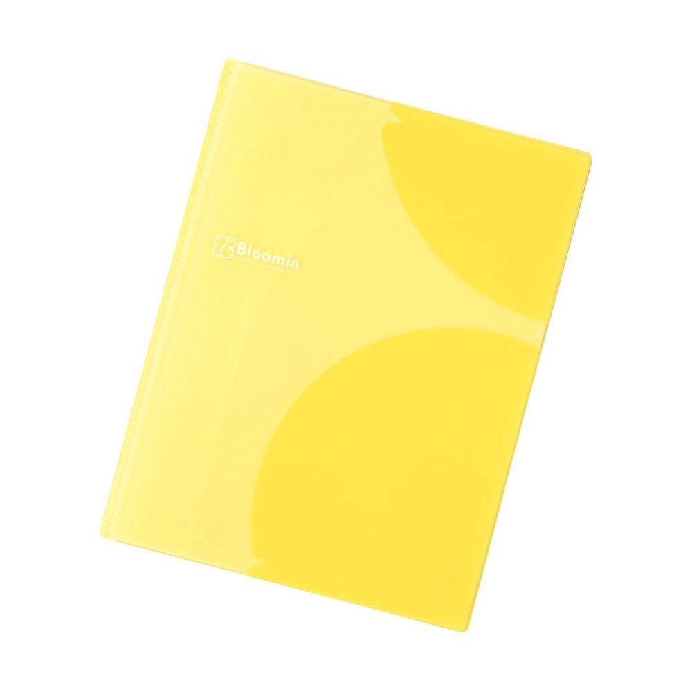 日本文具 LIHIT - 多重弧形卡夾設計文件資料夾-檸檬黃-8P (A4)-團購專案