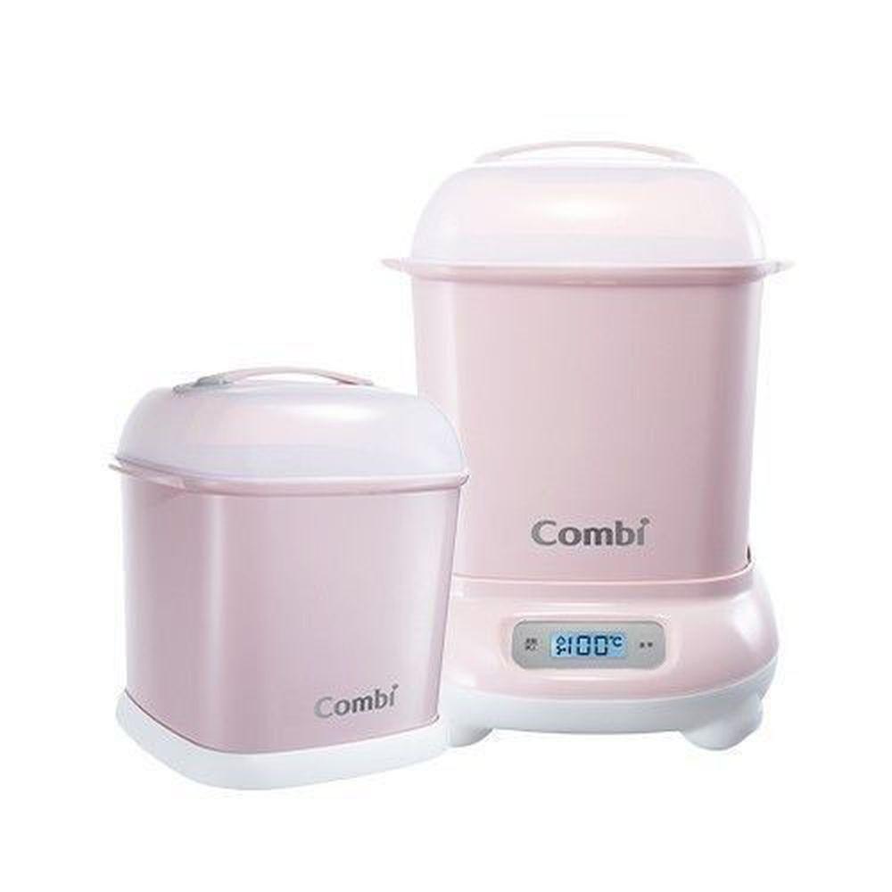 日本 Combi - Pro 360高效消毒烘乾鍋-1 + 1 實用組-優雅粉-高效烘乾消毒鍋+奶瓶保管箱
