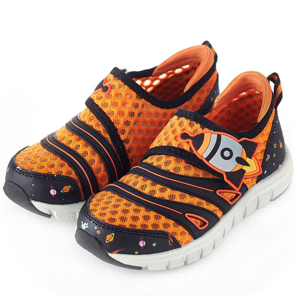 Dr. Apple - 機能童鞋-遨遊太空透氣休閒童鞋-橘