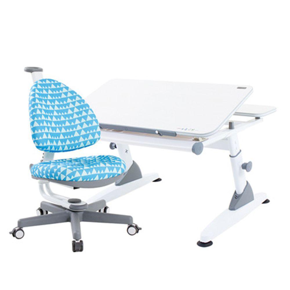 大將作 kid2youth - M2+XS 成長桌椅組(BABO C)-粉藍