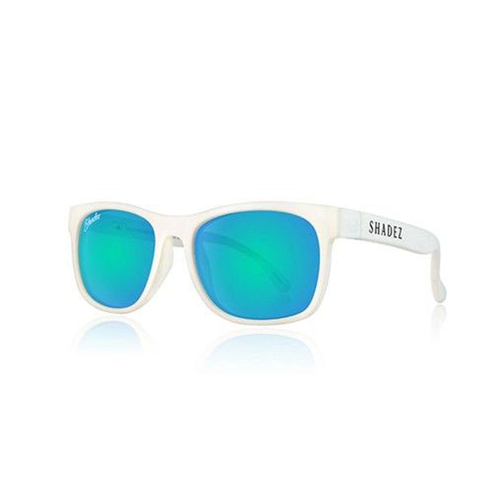 SHADEZ - 成人偏光太陽眼鏡-白框天空藍