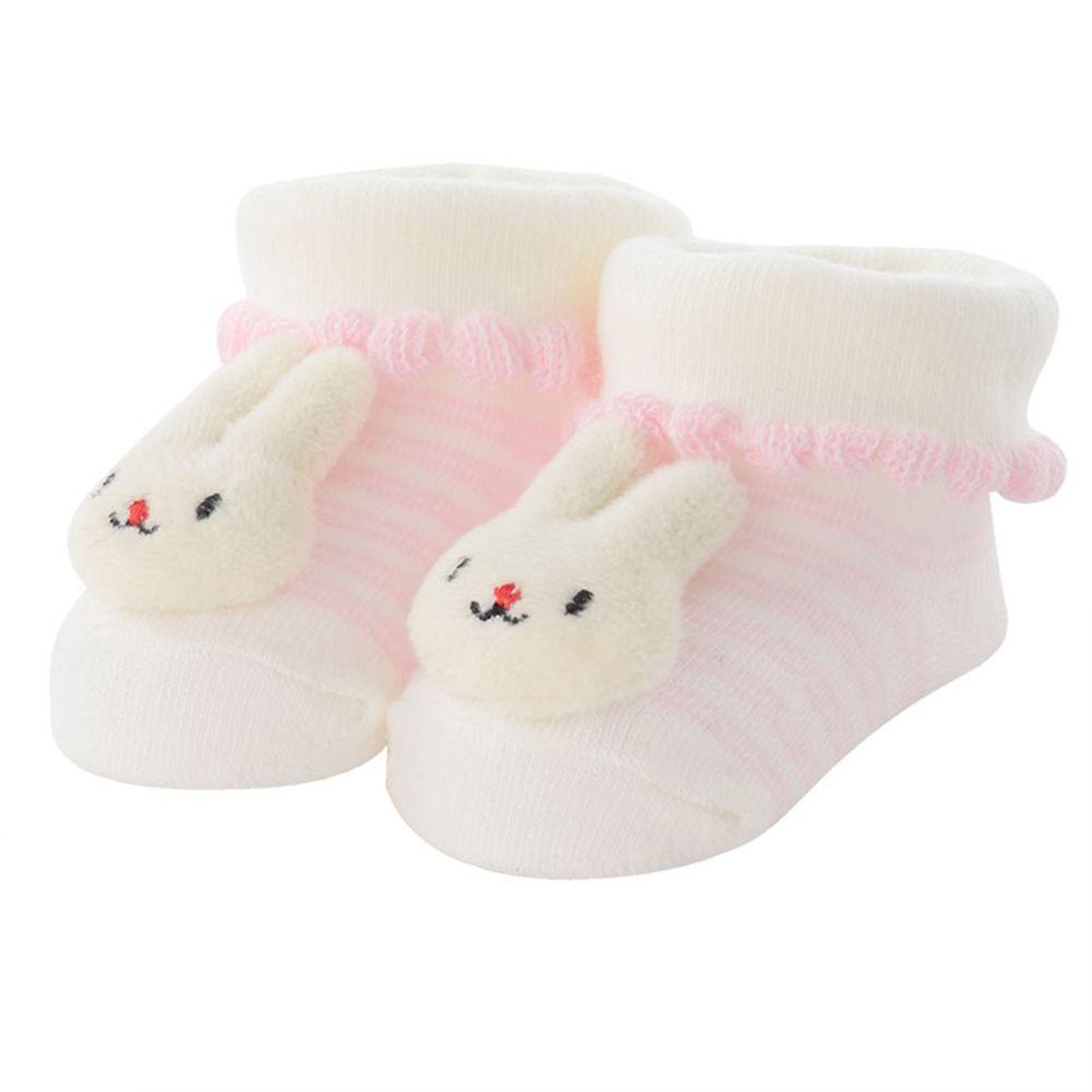 akachan honpo - 造型襪-兔子-粉紅色 (7~9cm)