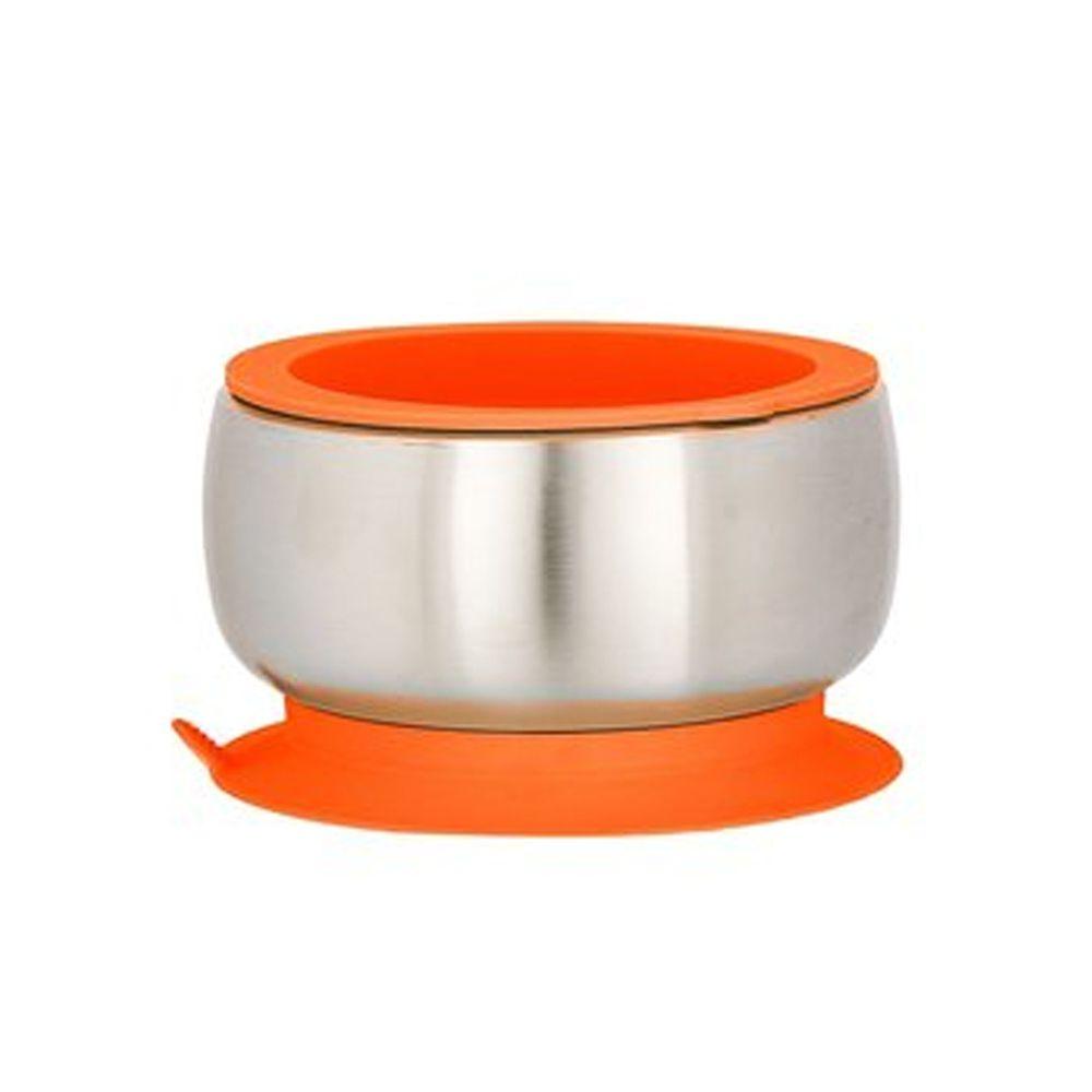 Avanchy - 雙層不鏽鋼-吸盤式餐碗-橙