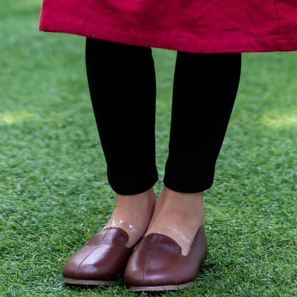 日本 riziere - 羅紋彈性修身內搭褲-低調黑