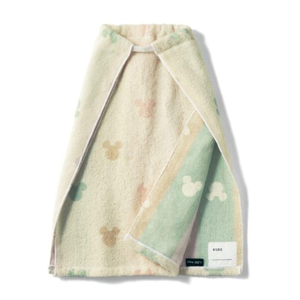 日本千趣會 - 迪士尼毛巾圍兜2件組-米奇頭-彩色系 (長(34x42.5cm(雙層)))