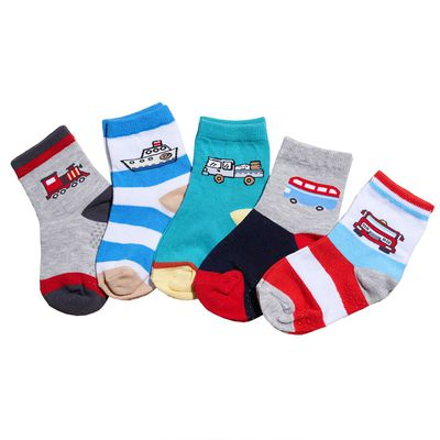 兒童棉紗短襪5雙組(男童車車款)