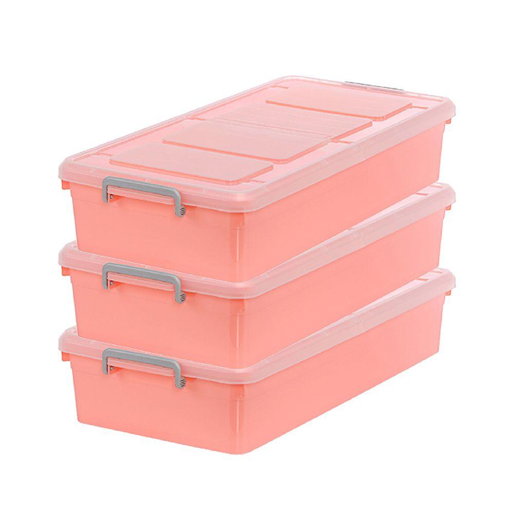 大象平方 - 維也納雙掀蓋整理箱35 甜美粉 3入