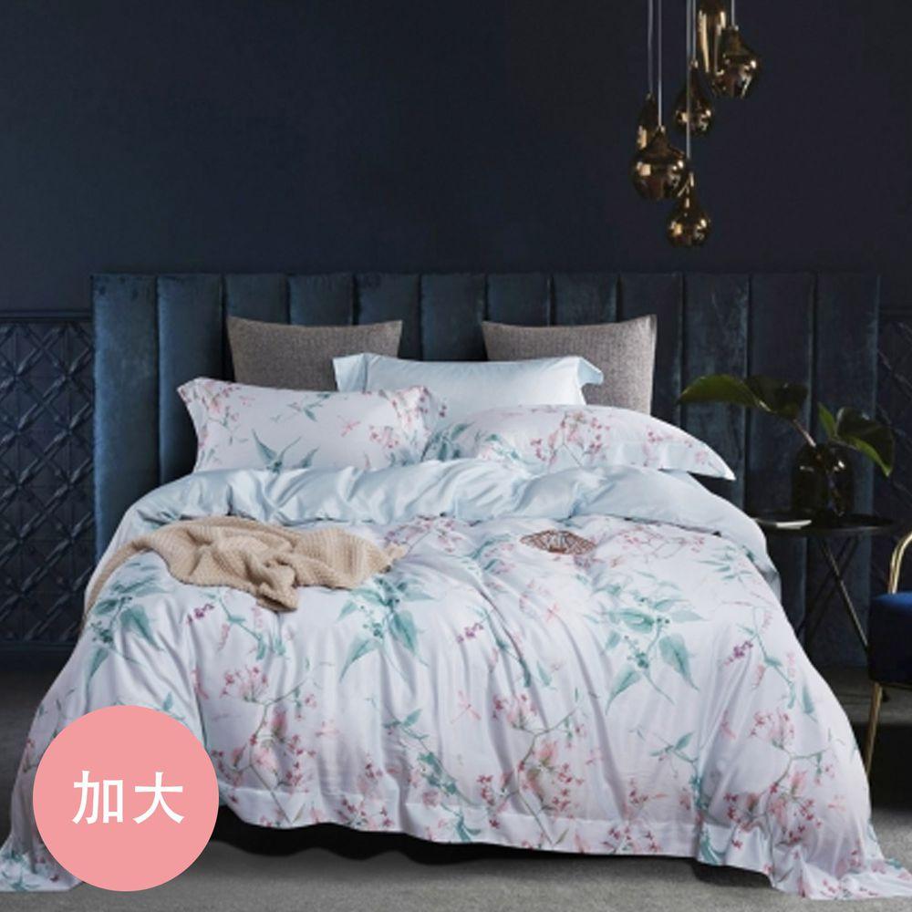 PureOne - 吸濕排汗天絲-徐秀秀-加大床包枕套組(含床包*1+枕套*2)