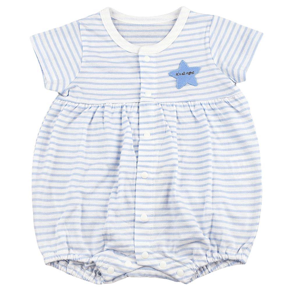 akachan honpo - 男短袖兔裝-藍色