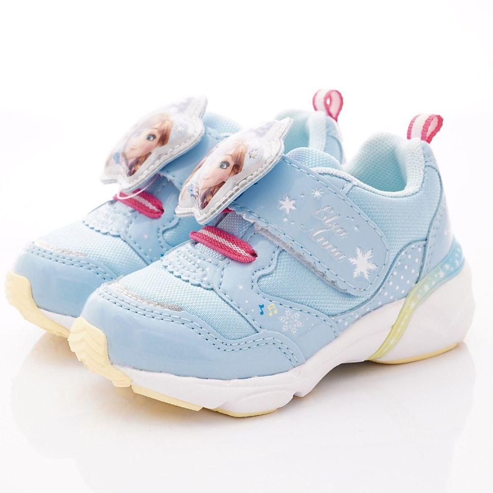 Moonstar日本月星 - 日本月星機能童鞋-冰雪聯名電燈運動鞋款(中小童段)-水藍