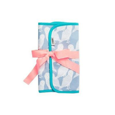 有機棉奶瓶收納袋-藍色貓頭鷹