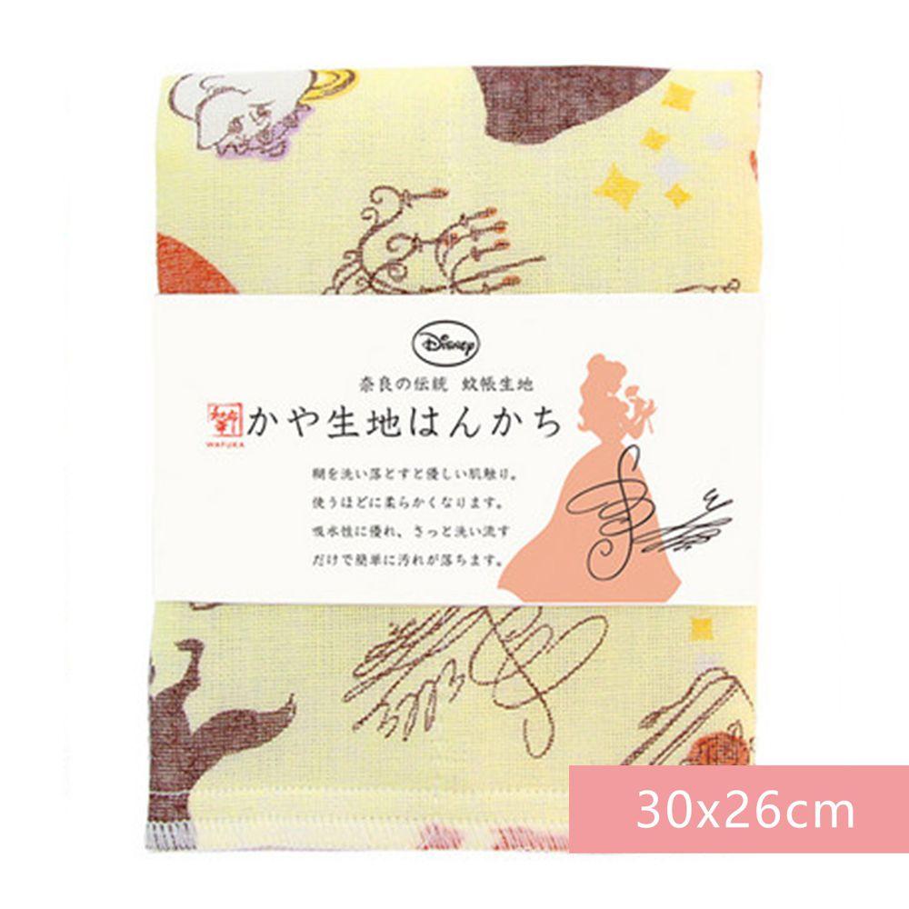日本代購 - 【和布華】日本製奈良五重紗 手帕-美女與野獸 (30x26cm)