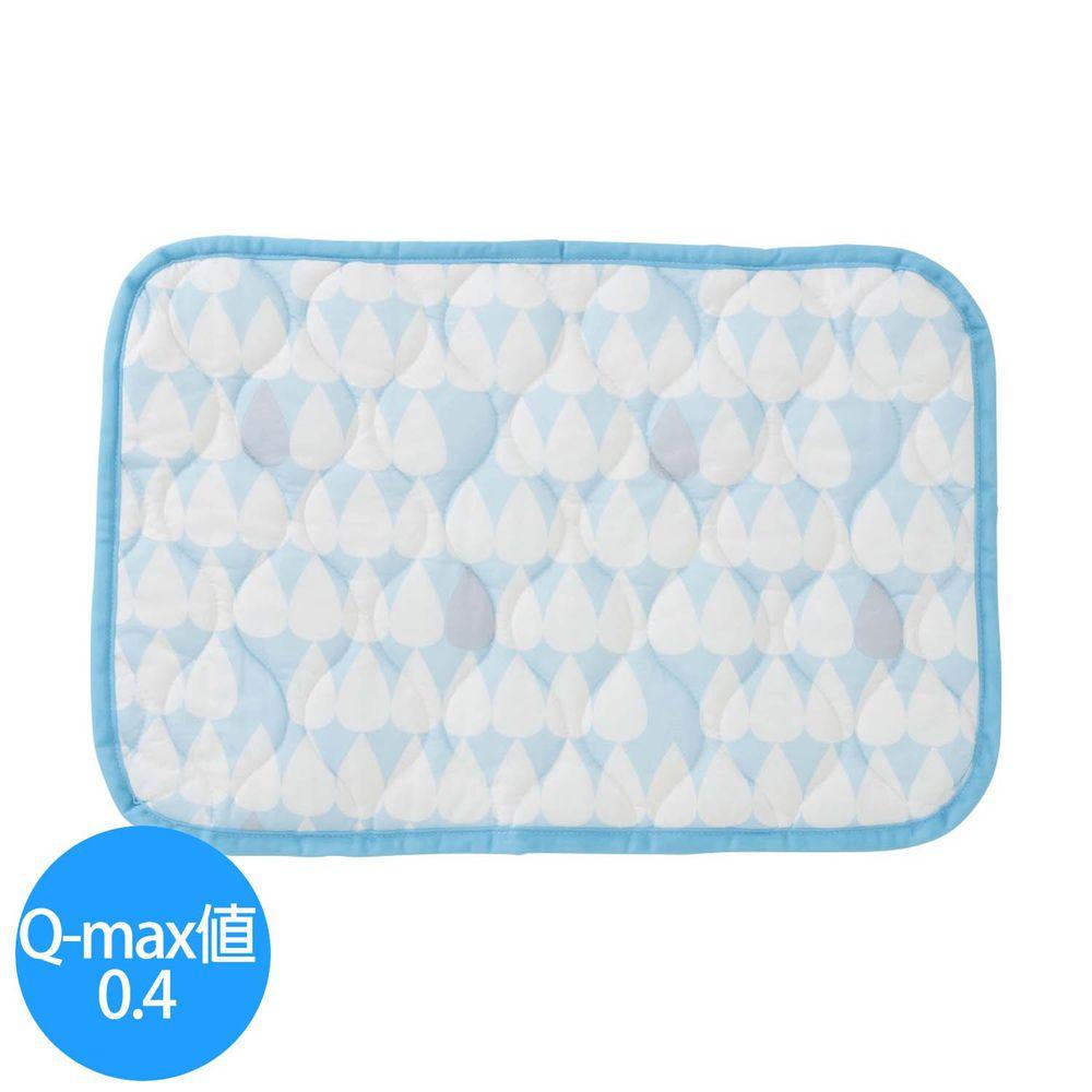 日本小泉 - 節電對策冷感波浪紋枕頭墊-雨點-水藍 (43x63cm)