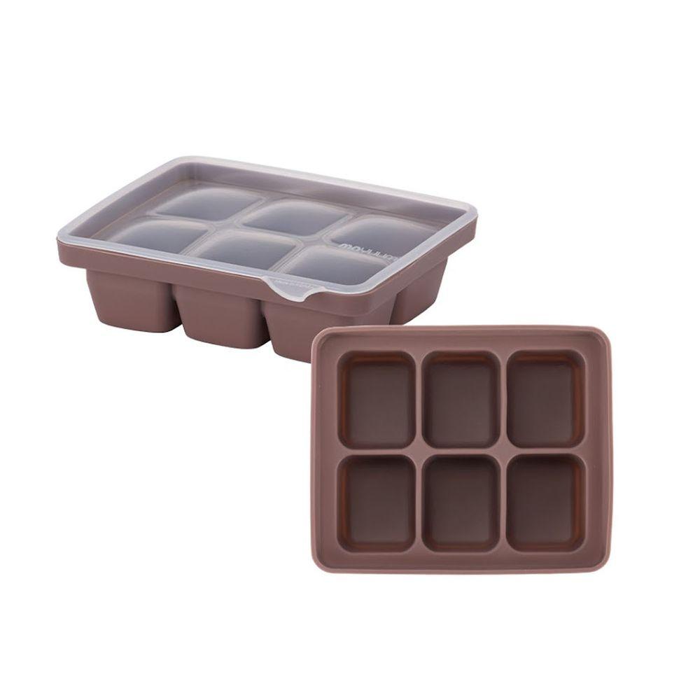 韓國 Moyuum - 白金矽膠副食品分裝盒-6格-可可粉