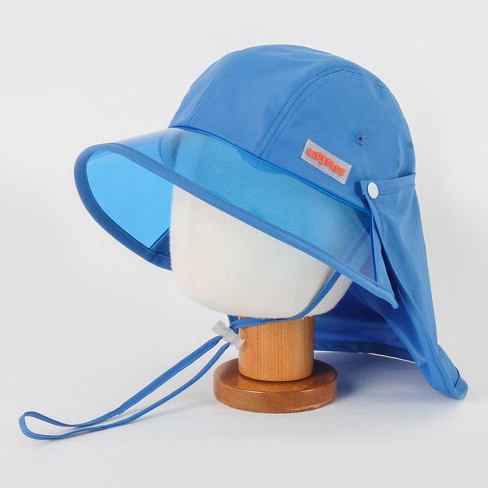 韓國 Babyblee - 抗UV遮陽板遮脖防曬帽-藍 (頭圍:L(50-54cm))