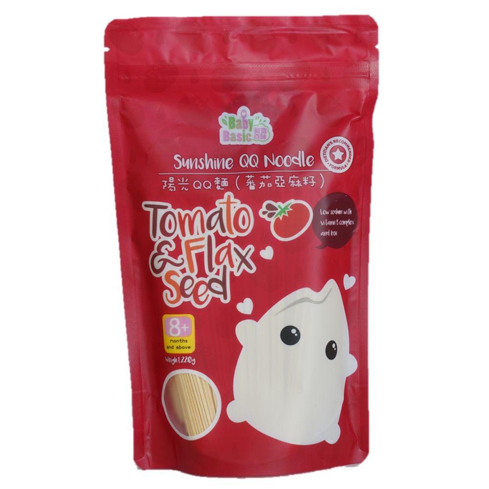 香港寶寶百味 - 陽光QQ麵 (8+)-蕃茄亞麻籽-220g/包
