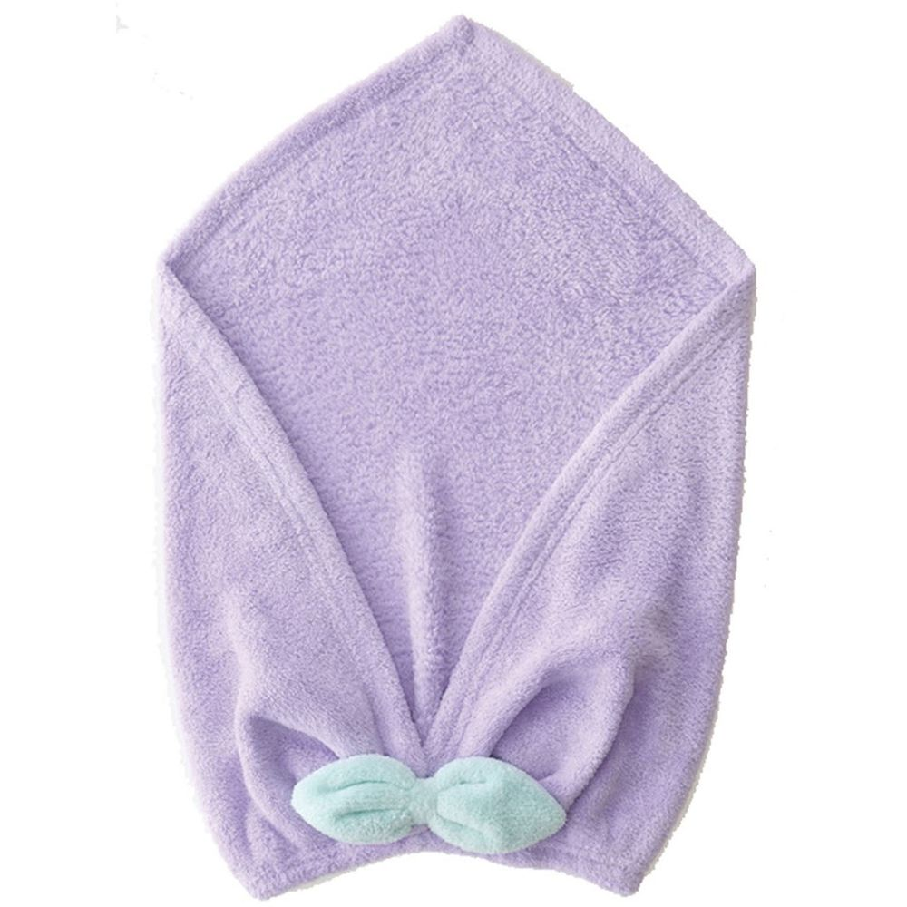 日本 CB JAPAN - 馬卡龍系列超細纖維擦頭包巾-紫 (W220 X H480mm)