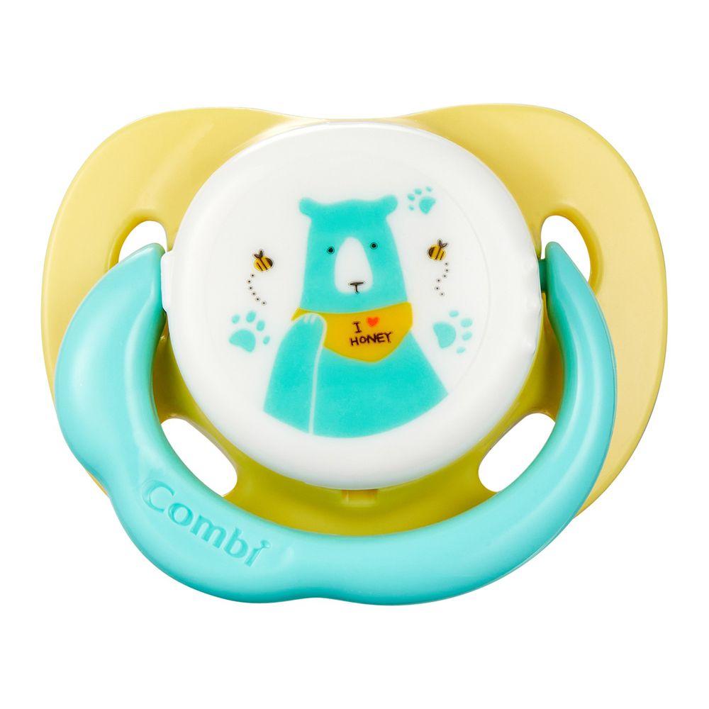 日本 Combi - 極淨日用安撫奶嘴-蜜黃熊 (M)-2、3~10個月