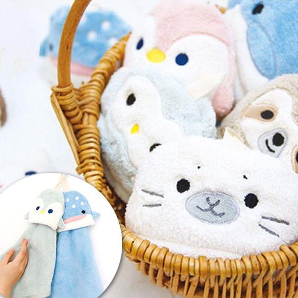 日本 吸水速乾!超可愛動物擦手巾、乾髮帽、浴巾