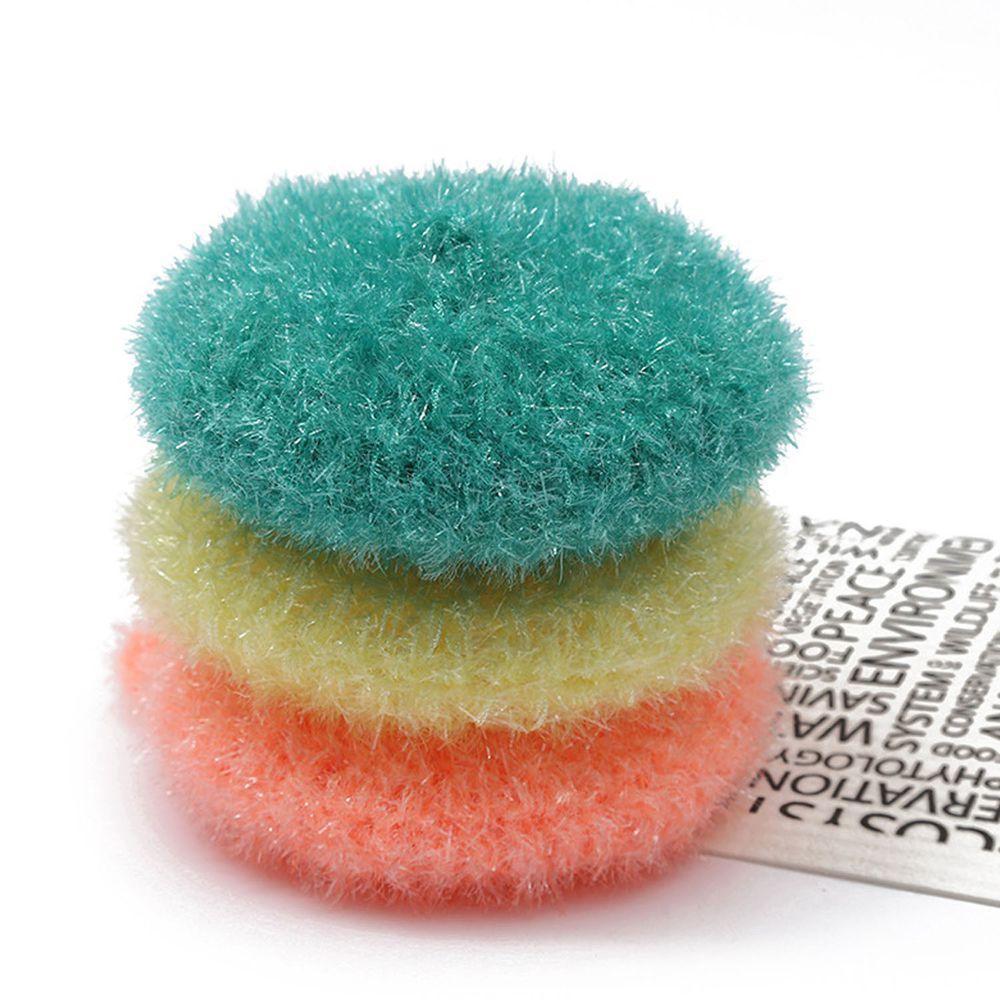 易起泡亞克力纖維碗盤清潔刷-加厚款-3入組