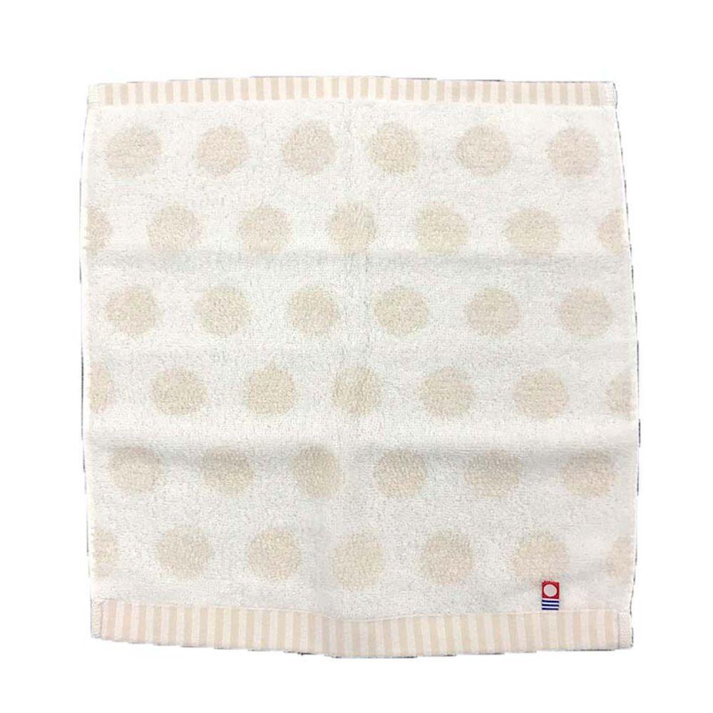 akachan honpo - 今治毛巾 點點-淺卡其色 (34×35cm)
