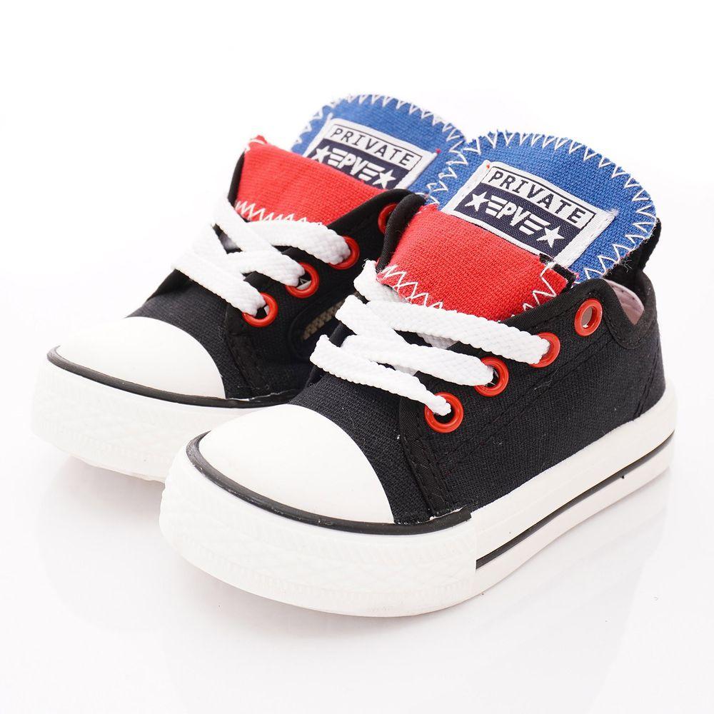 PV日式私藏 - 專櫃童鞋-休閒帆布鞋款(中小童段)-黑