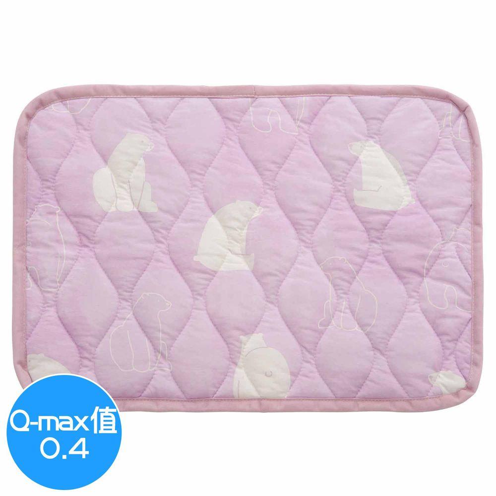 日本小泉 - 節電對策冷感波浪紋枕頭墊-北極熊20-粉紅 (43x63cm)