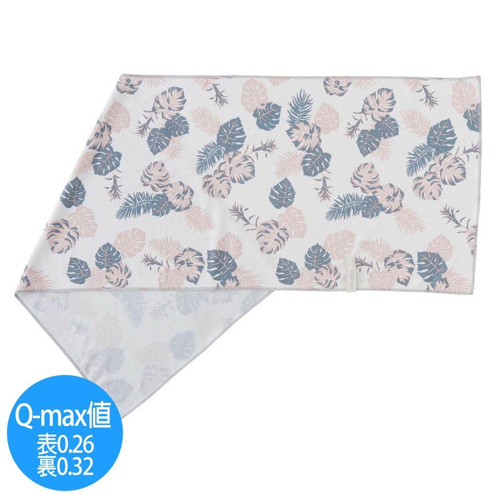 日本小泉 - UV cut 90% 接觸冷感 水涼感巾(附收納袋)-夏日風情-象牙 (30x90cm)