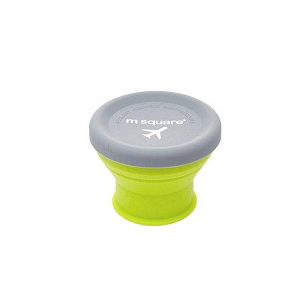 m square - 摺疊矽膠碗 S-綠色-90ml