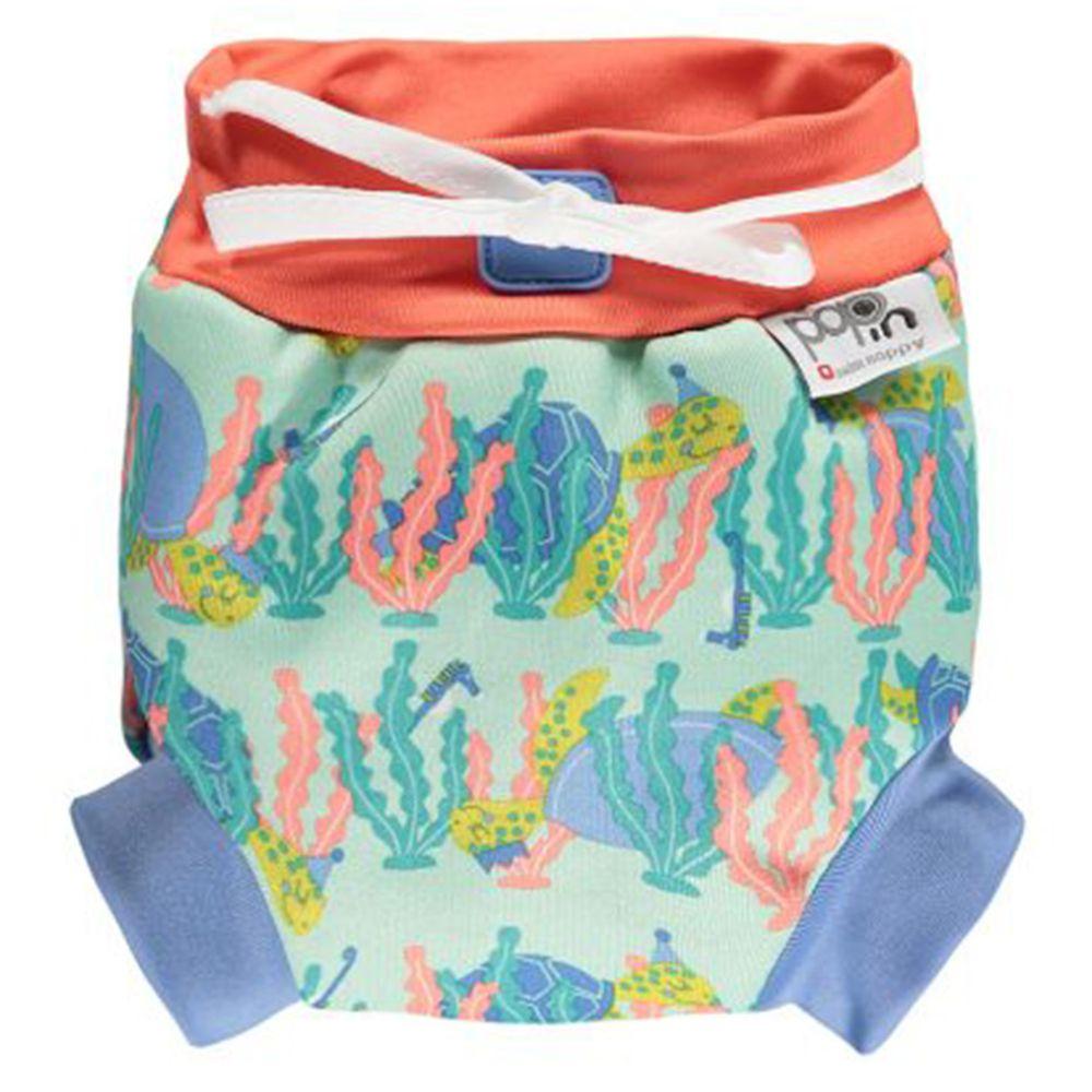 英國Pop-in - 嬰兒游泳尿布褲-海龜