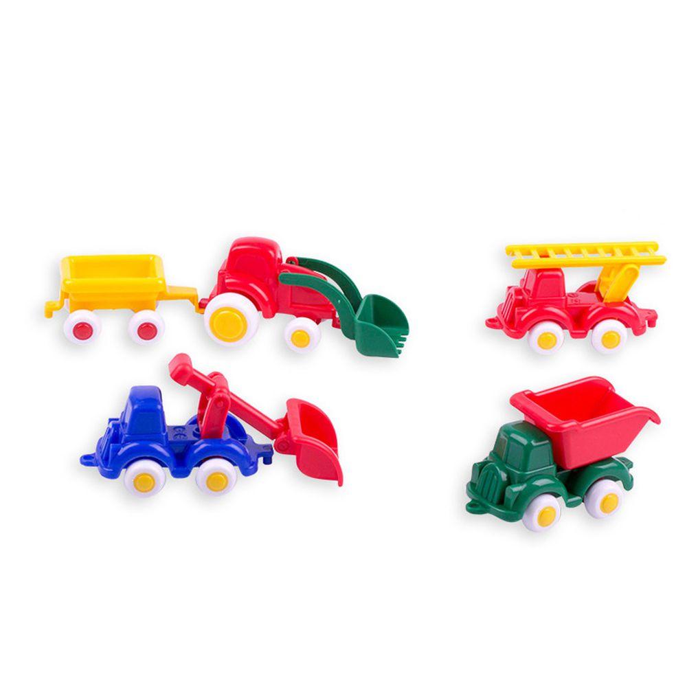瑞典Viking toys - 【新品】迷你工程小車隊(5件組)-7cm