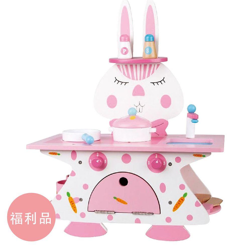 Ching Ching - 福利品-粉紅兔廚房木製玩具組 MSN18004
