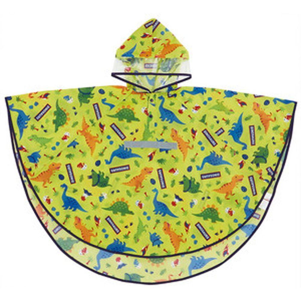 日本 SKATER 代購 - 兒童防雨斗篷(附安全反光條/收納袋)-侏羅紀世界 (110~125cm通用)