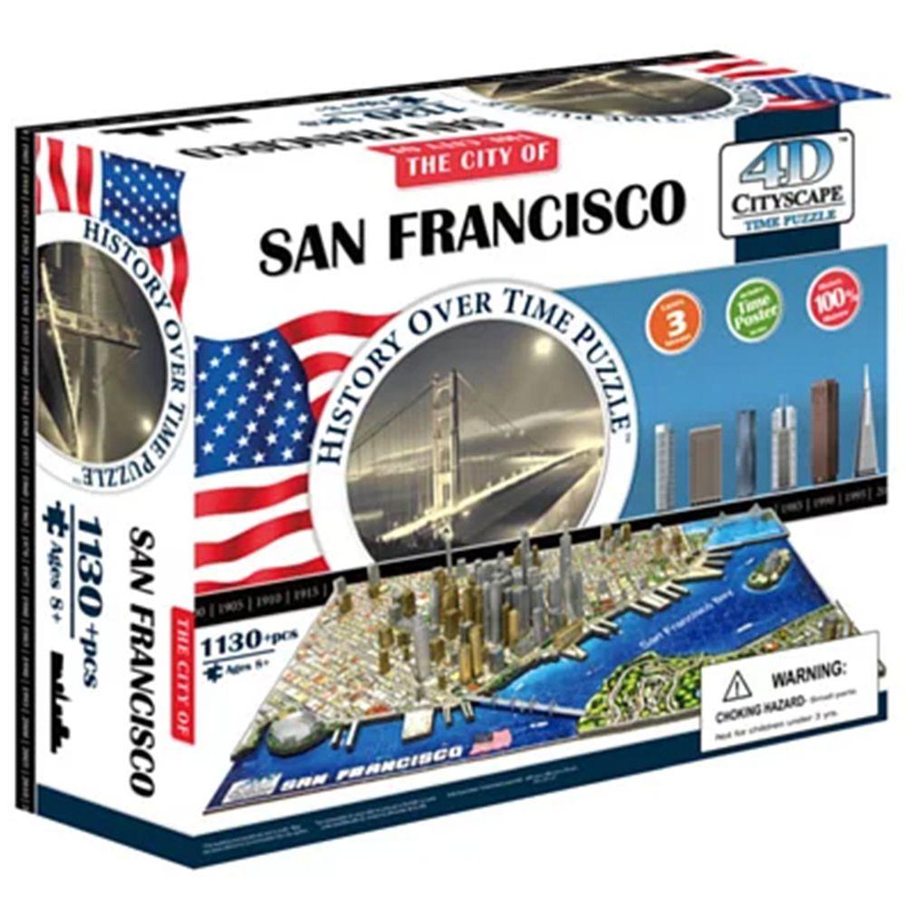 4D Cityscape - 4D-城市拼圖-舊金山-1100片