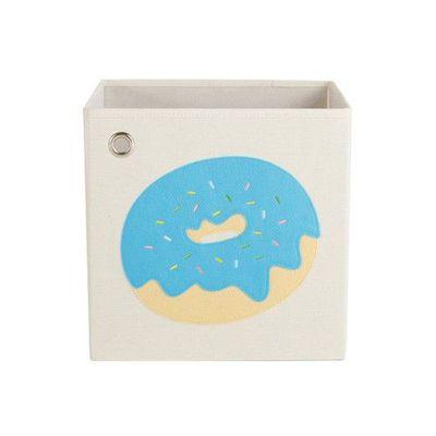 玩具收納箱-藍莓優格甜甜圈 (33x33x33cm)