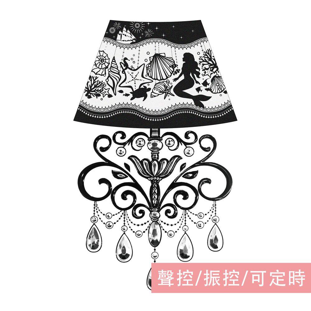 日本 TOYO CASE - LED 夜燈壁飾-公主吊燈系列-小美人魚 (18.5x31cm)