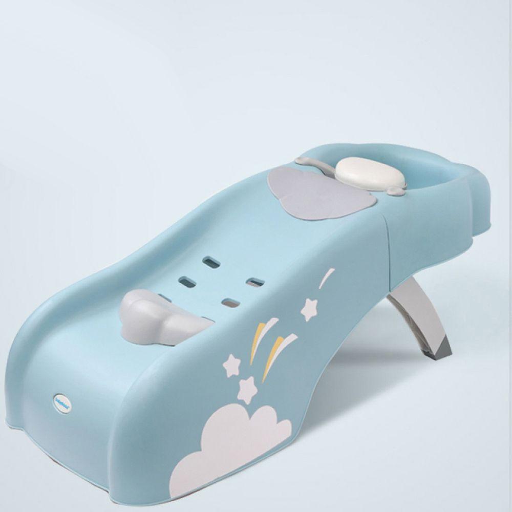 babyhood - 艾雲洗頭椅 兒童洗髮椅-較大浴室適用-藍色