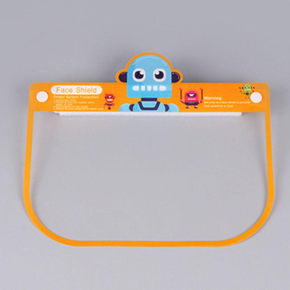 隔離飛沫兒童防護面罩-機器人-橘黃色 (約26x18.5cm)