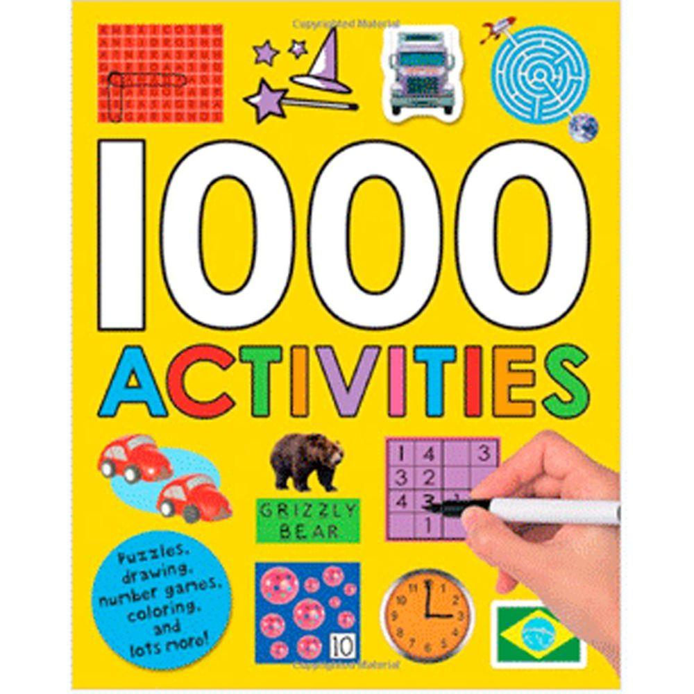 原裝進口貼紙書 1000 ACTIVITIES(附中英對照本)-平裝