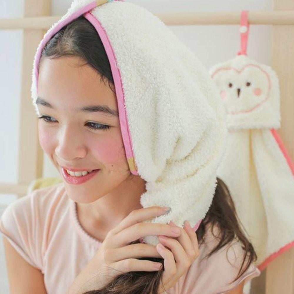 minihope美好的親子生活 - 可以扣的球球巾-米白 (30x75cm)