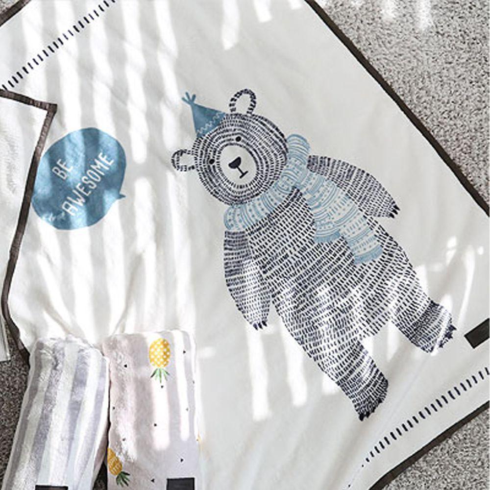 韓國 Bebe Deco - 法蘭絨毛毯/被毯-北極熊