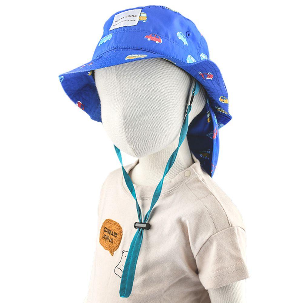 akachan honpo - 遮陽漁夫帽-汽車-深藍色