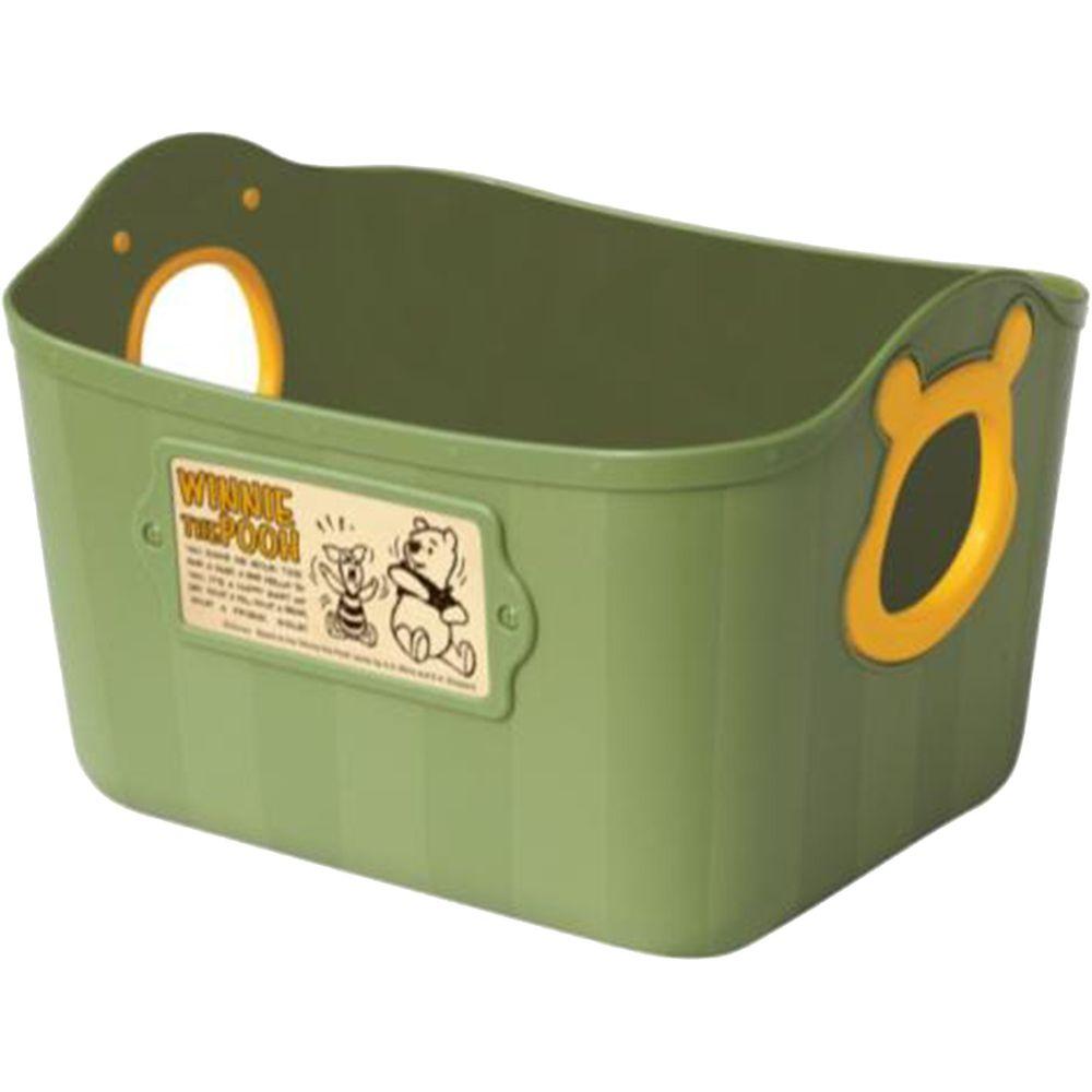 日本錦化成 - 日本製置物籃-小熊維尼-墨綠 (25*19*16cm)-2.5L